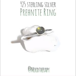 Genuine Prehnite Solitaire Ring - 926 SS